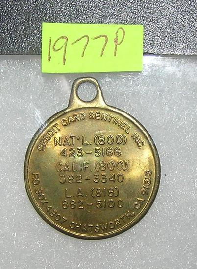 Credit card centennial tag