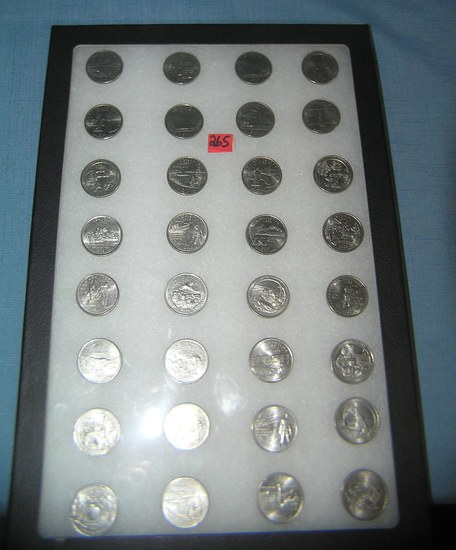 Large collection of vintage US state quarters