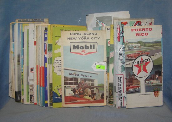 Collection of vintage auto related travel maps