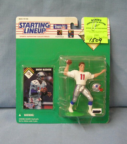 Vintage Drew Bledsoe football action figure
