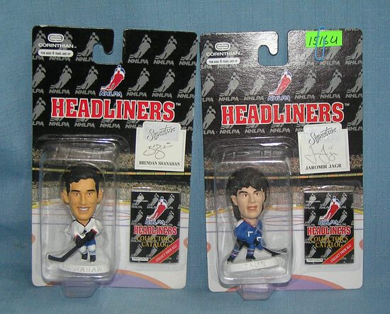 Pair of mini Hockey all star figures