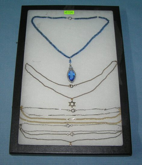 Collection of vintage costume jewelry necklaces