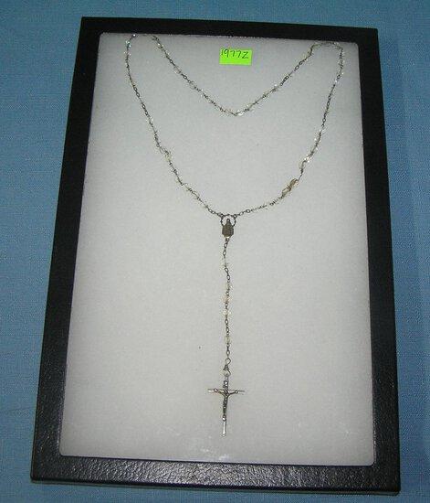 Vintage rosery bead set
