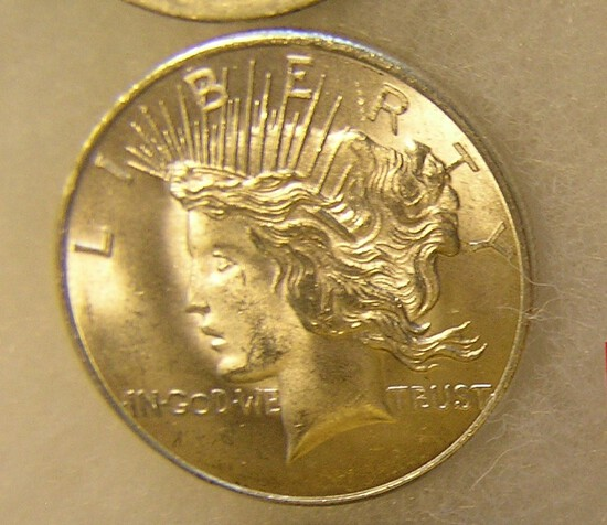 Lady Liberty head 1 troy oz silver commemorative coin