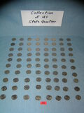 Huge collection of US American state quarters