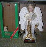 Large mechanical and animated holiday angel figure