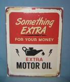 Something Extra Extra Motor Oil retro style sign