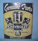 Chevrolet Genuine Parts retro style advertising sign