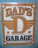 Dad's Garage retro style advertising sign