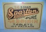 Spartan Brand Aspirin retro style advertising sign