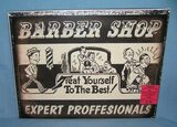 Barber Shop retro style advertising sign
