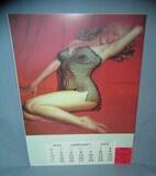Marylin Monroe 1954 Calendar retro style sign