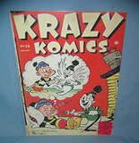 Krazy Komics retro style advertising sign
