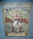 Spalding Baseball Card Guide retro style sign