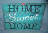 HOME SWEET HOME retro style advertising sign