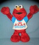 Figural animated Elmo figure 13 inches tall