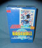 1989 Score Baseball card box