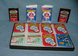 Collection of unopened baseball card packs