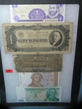 Collection of vintage world currency