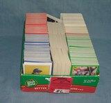 Large box full of vintage baseball cards