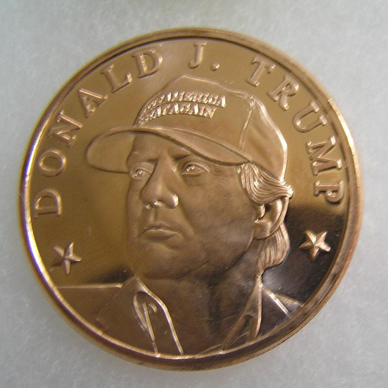 Donald J Trump 1 oz .999 fine copper medallion