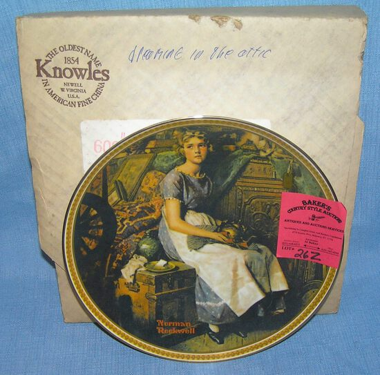 N. Rockwell collector plate: Dreaming in the Attic
