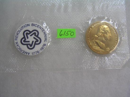G. Washington bronze bicentennial commemorative coin