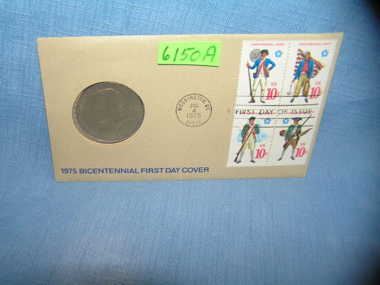 Paul Revere coin and first day of issue stamp cover set
