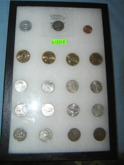 Group of US coins and a Lincoln comemmorative piece