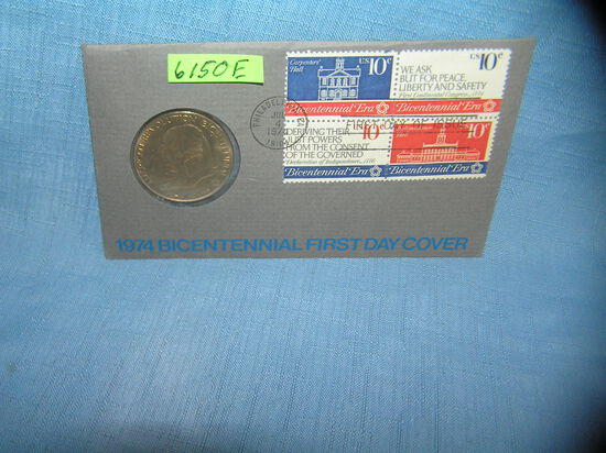 John Adams coin and stamp cover set