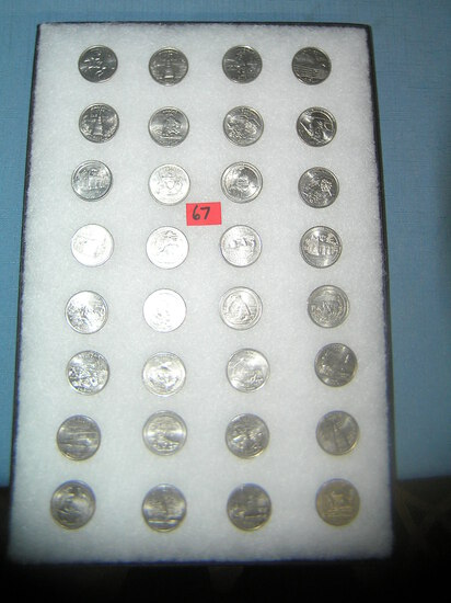 Large collection of US state quarters
