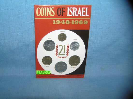 Coins of Isreal vintage coin set