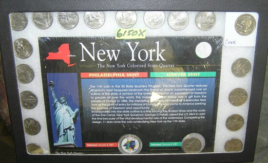 Collection of US state quarters includes 1 NY colorized
