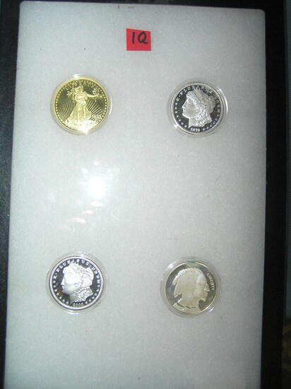 Group of 4 US salesman sample coin copies