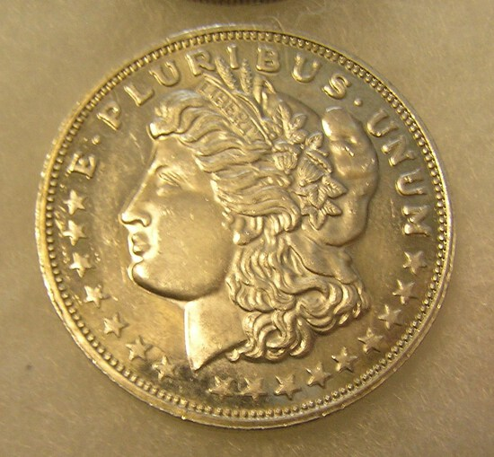 Lady Liberty Morgan head style 1 troy oz fine silver  coin