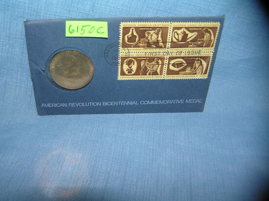 George Washington medallion and stamp cover set
