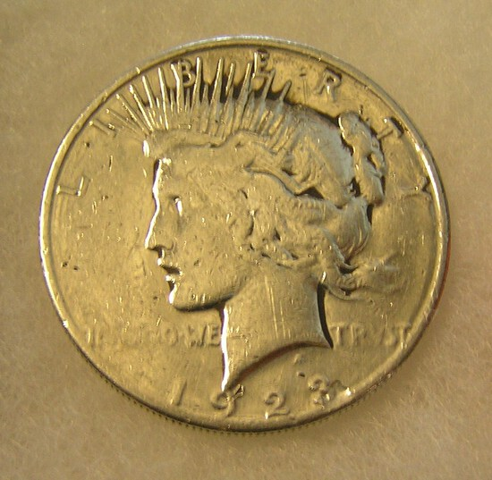1923D Lady Liberty Peace silver dollar