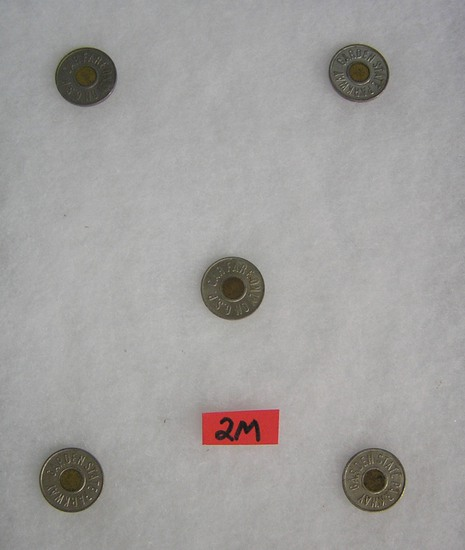 Group of transportational parkway tokens