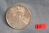 Walking Lady Liberty 1 troy ounce silver coin