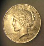 1923 Lady Liberty Peace silver dollar