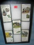 Collection of vintage US encased state quarters