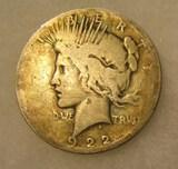 1922S Lady Liberty Peace silver dollar