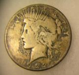1922 Lady Liberty Peace silver dollar