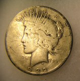1922 Lady Liberty Peace silver dollar in good condition