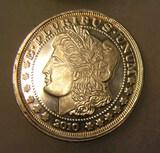 Morgan head style Lady Liberty 1 oz. pure fine silver  coin