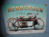 Henderson Motorcycles retro style advertising sign