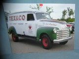 Texaco Delivery Truck retro style advertising sign
