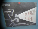Antique Bicycle Search Light retro style sign