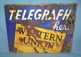 Western Union Telegraph retro style advertising sign