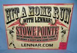 Hit a Home Run with Lennar retro style sign